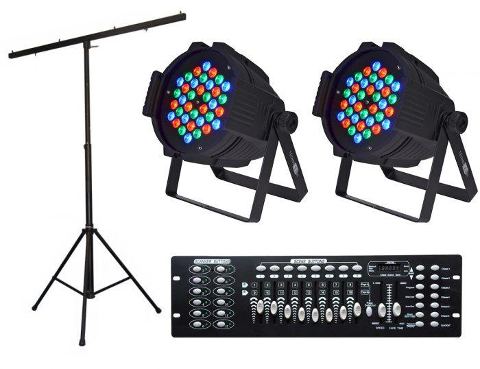 השכרת סטנד תאורה + פנסי LED + קונטרולר